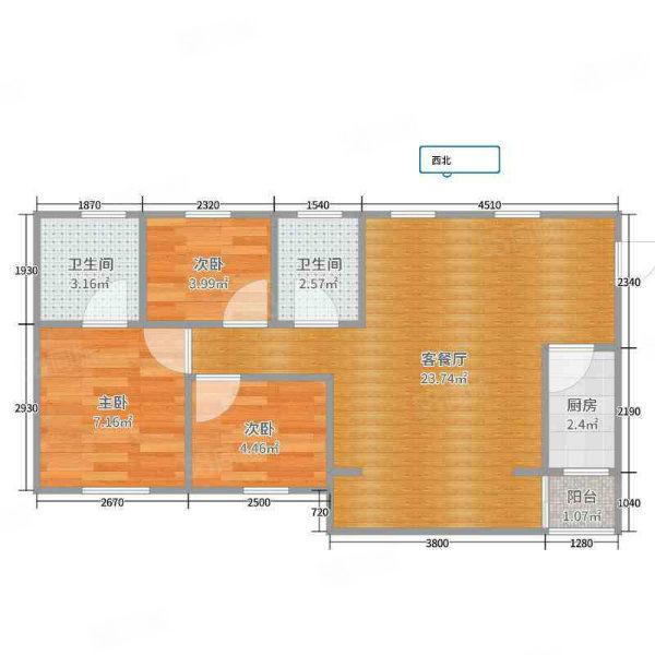 欧洲新城4房2厅2卫装修关门卖