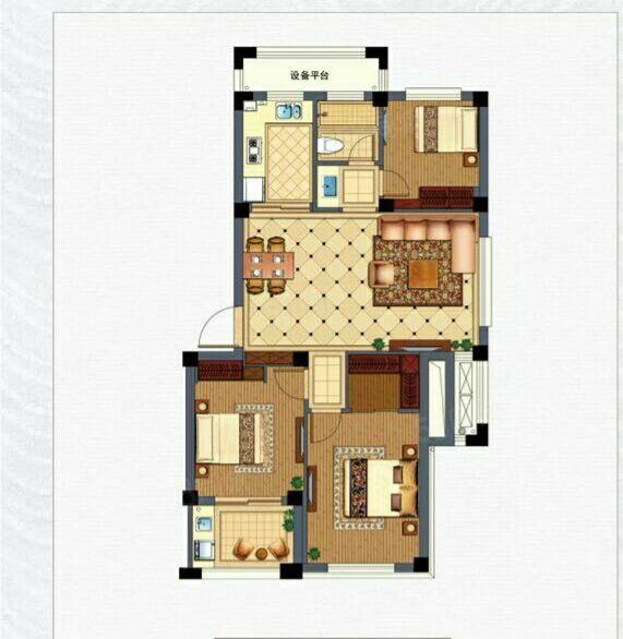 檀香小区70平方2室1厅精装修商品房样样有出租