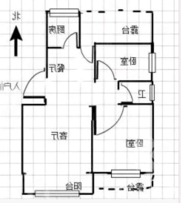 和平路中达尚城83平49万带个大露台精装两居室老证可贷款