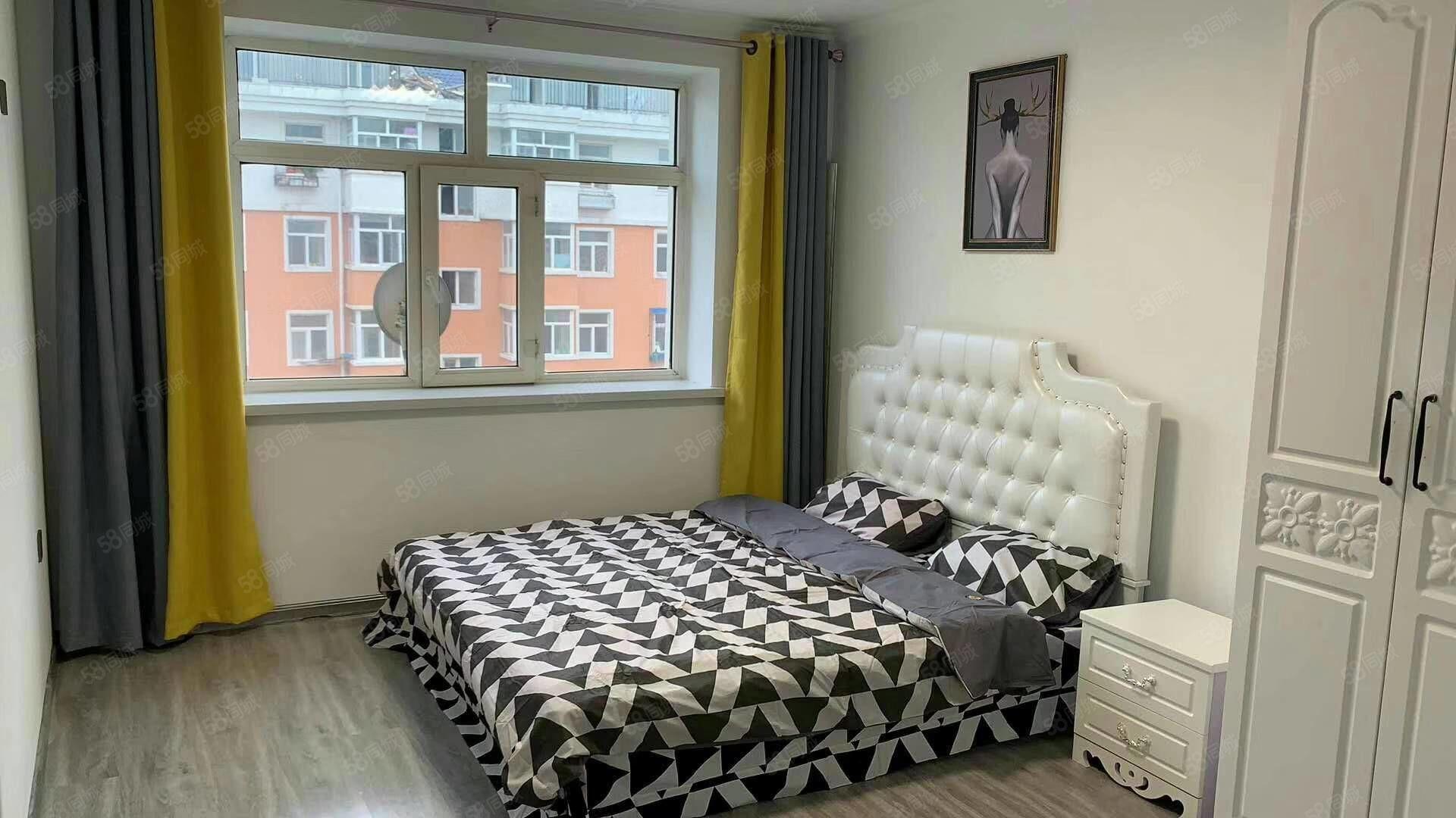 福鼎家园,四楼南北通透两室一厅62平36.8万,带家具精装修