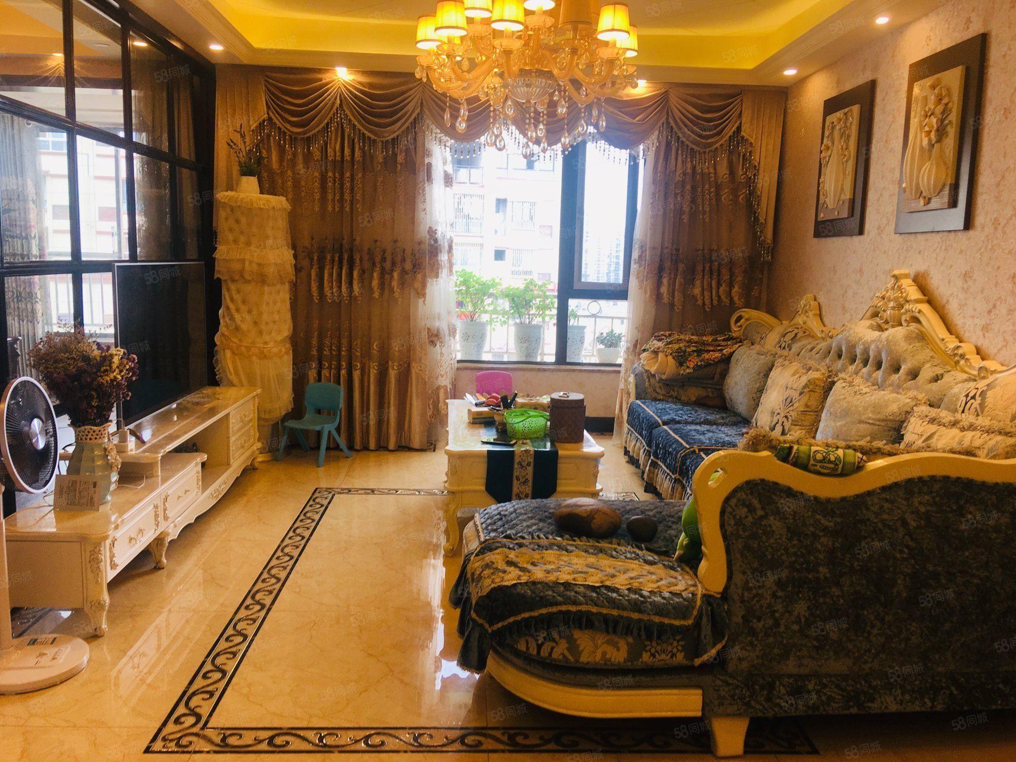 花园小区,天立观澜国际125万8,3室2厅2卫精装修