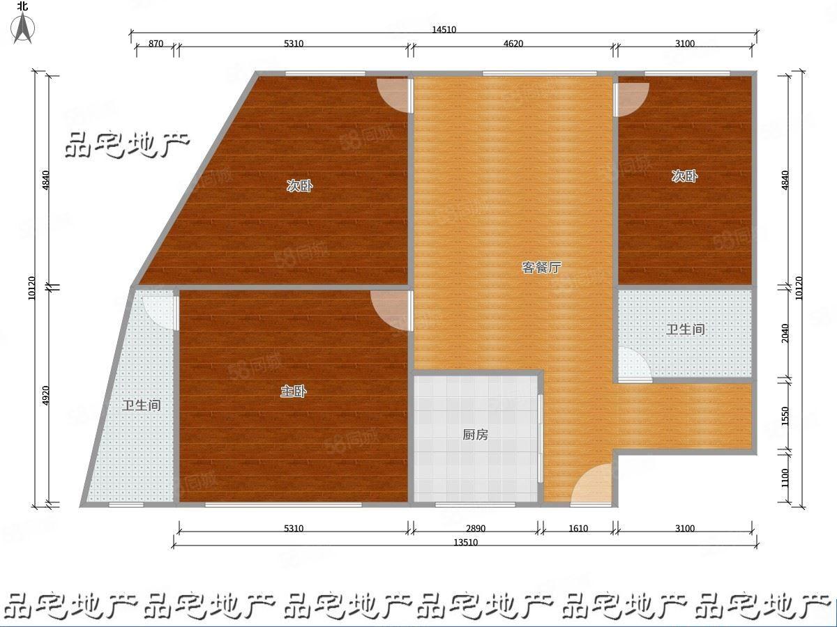 老城区重阳街三房出租,833一月,随时看房