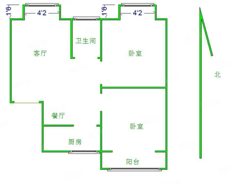 急售青年新城,80平米兩室,戶型好,可貸款