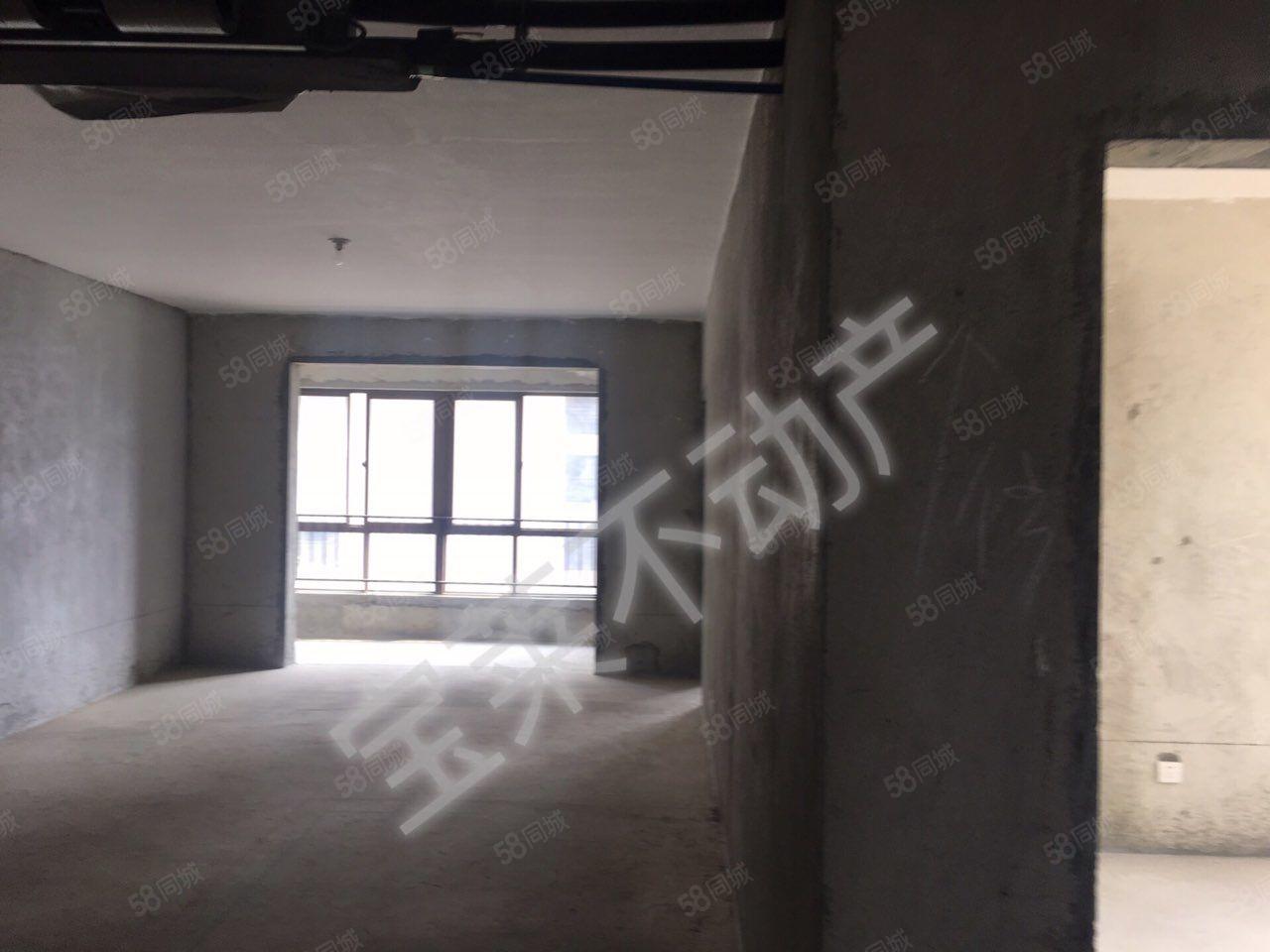 汉水名城紫薇公馆3室2厅2卫毛坯可按揭中央空调已经装好南北向