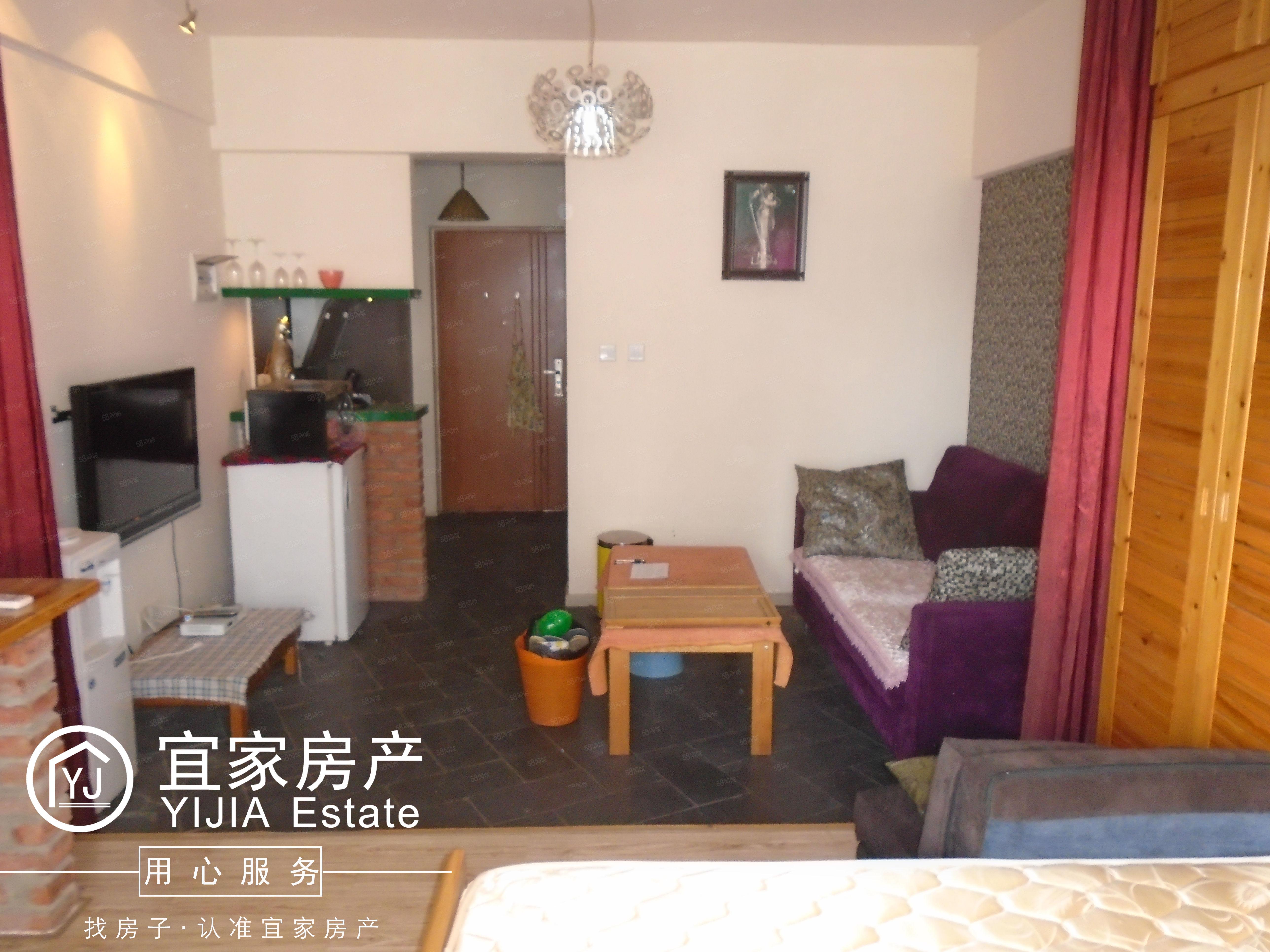 时代广场,1室1厅1厨1卫,精装修单身公寓,带全套家电家具