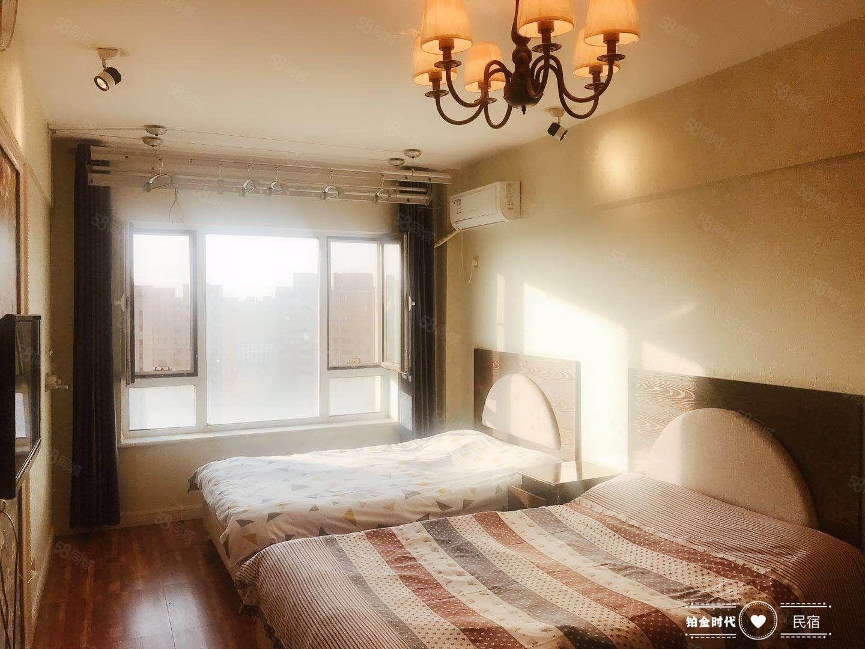 精装全屋壁纸双床房拎包入住铂金时代月付