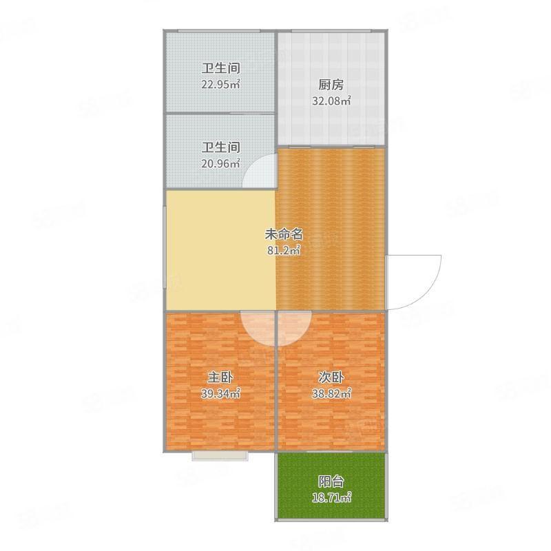 锦绣淞江精装2房62万急售步梯房二楼南北通透