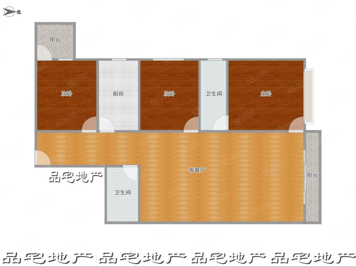 太合水逸117平三室单价3247中层有钥匙随时看房