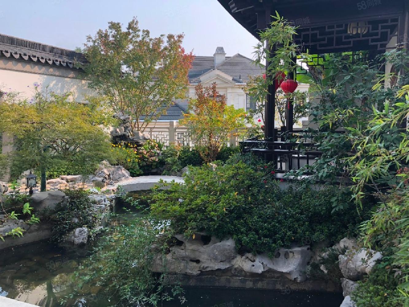 西湖十里處一院瞰江山綠城富春玫瑰園綠城中式合院別墅急售