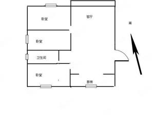 出售城西北海棠花园3楼精装南北通透110平70万送车库23平
