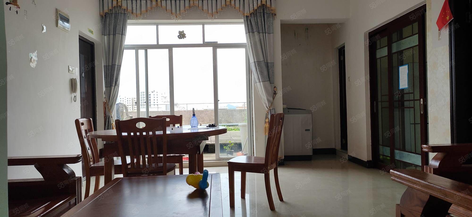 帝福华庭旁不动产权房100平方送60平方天台,装修新净