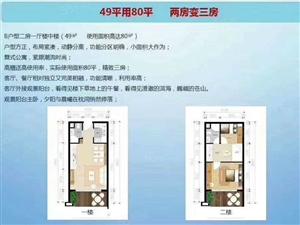 2室2厅2卫86平海景公寓总价50万位于海东新区市政府旁