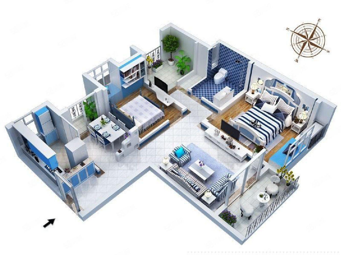 正弘中央公园南北通透小三室有房本税满正常首付随时看房