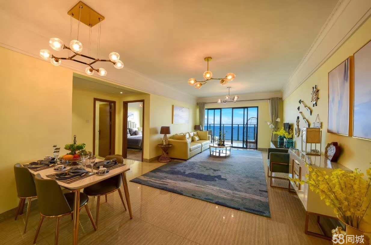 有私属沙滩和大海的一线海景房,高端泳池送观海阳台。