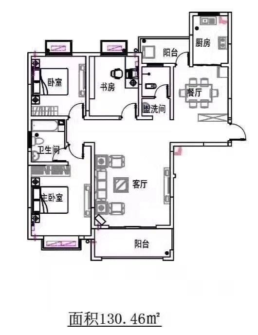 业主本人出售羊山新区信钢嘉苑3室2厅2卫132平米