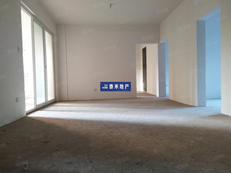 金桥新区置信仁湖花园带平台套三双卫户型方正格局分明