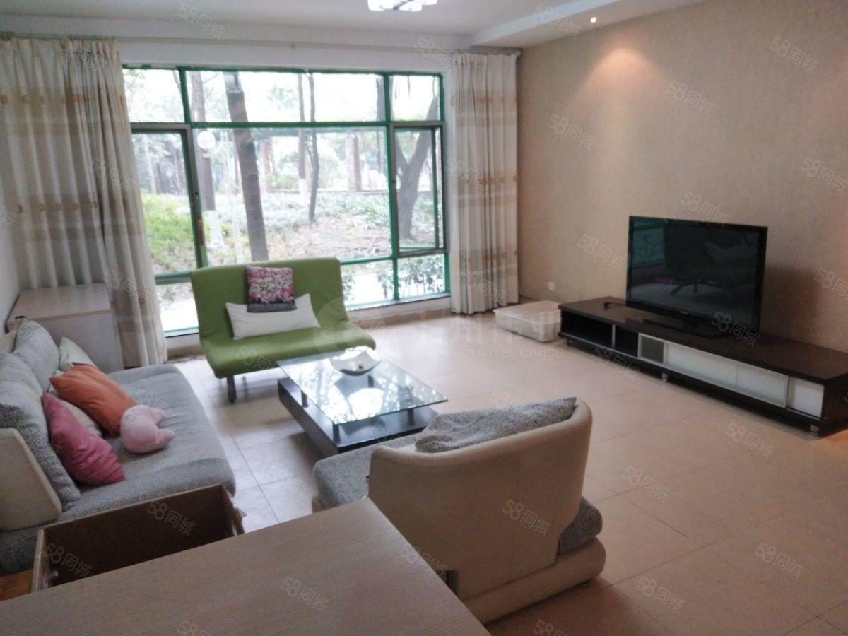 1楼带花园洋房套三双卫,家具家电齐全。