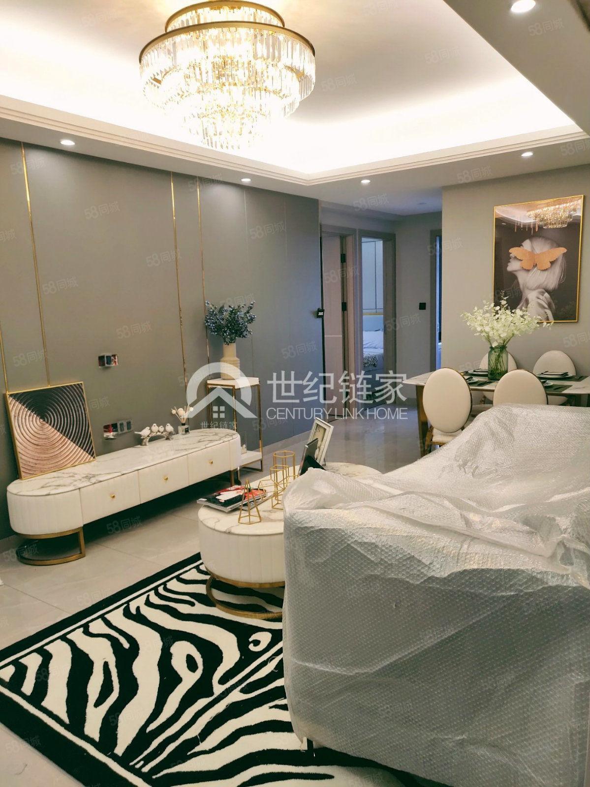 太阳城曼哈顿三居室豪华欧式清新风好楼层带飘窗采光好