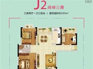 精装底价3室2厅2卫翼特丽景城出售