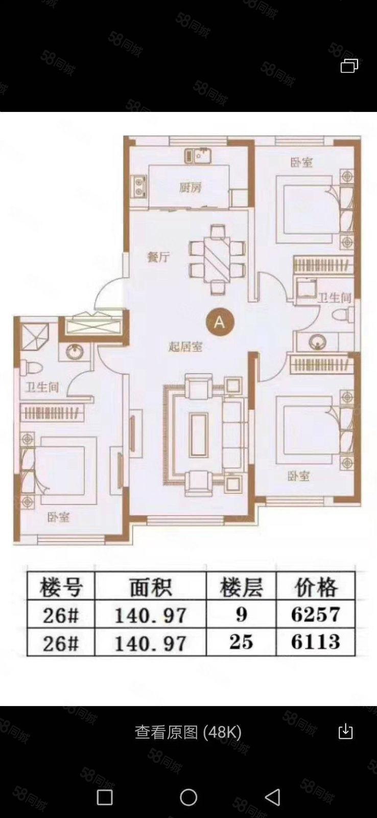 江南大禹城邦江景房一手房 能贷款 比售楼处便宜要的抓紧户型好