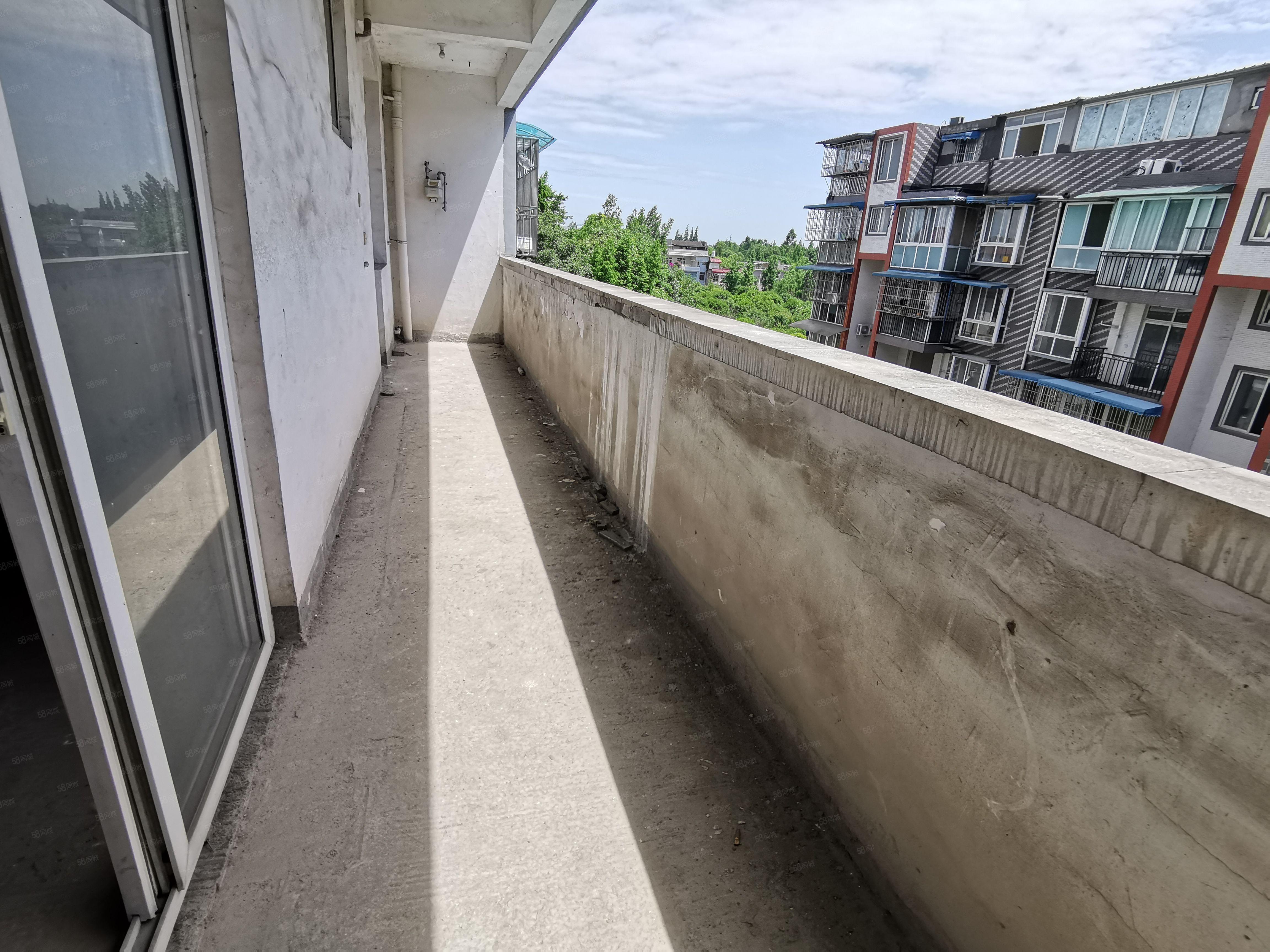 九米长通阳台,户型布局都大气一个卧室20平住起来舒服!!