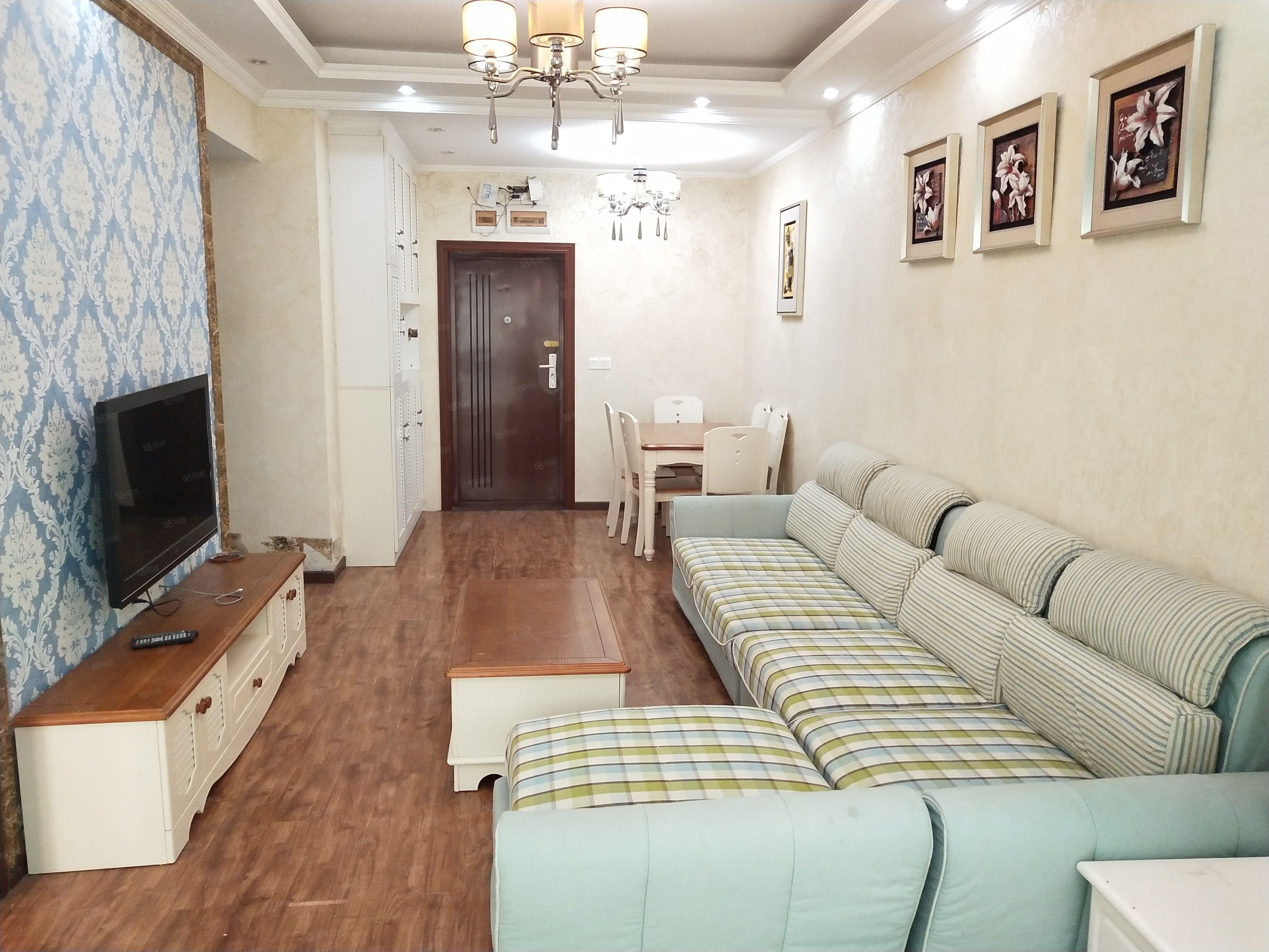 江阳公园旁天立水晶城住家精装2房温馨如家初次出租