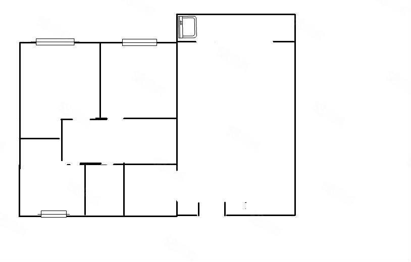 龍翔國際電梯中層,毛坯3房2廳1衛!鑰匙在手,隨時看房!