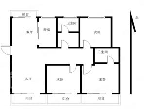 洋房三室好楼层南北通透随时装修入住