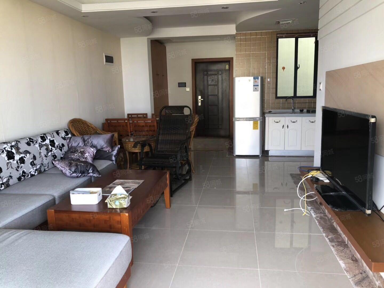 博鳌椰风海岸小区精装修一室一厅高层海景房躺着就能看海