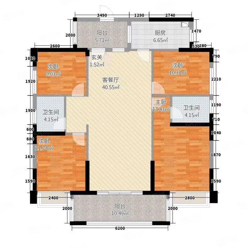 嘉燕明珠e栋中层5800元每平方