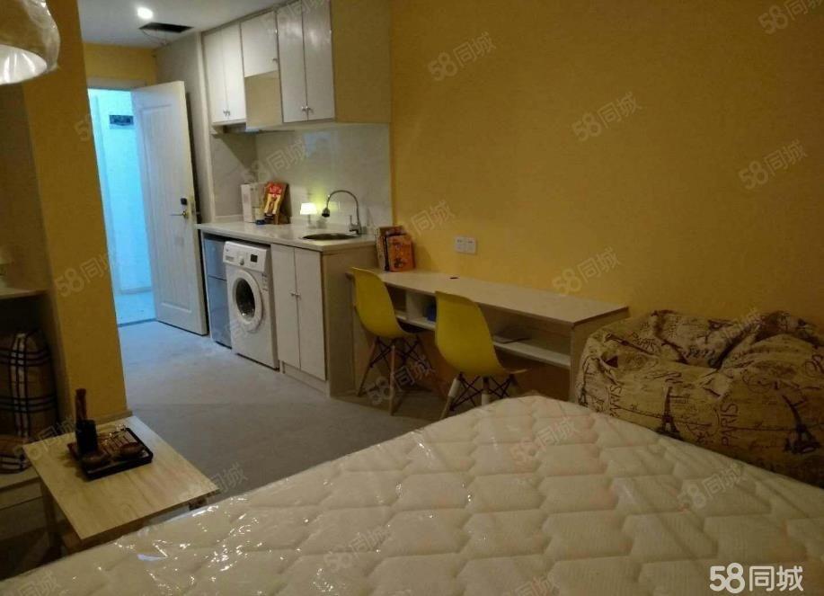 西外环精装公寓可做饭短租押一付一免费健身房停车场