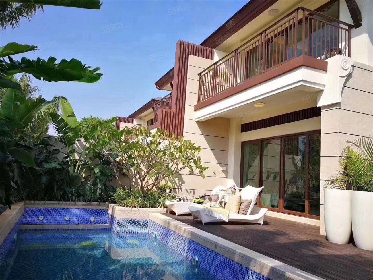新房!业主没钱清退!雅居乐独栋中式别墅,前后双花园,带泳池。
