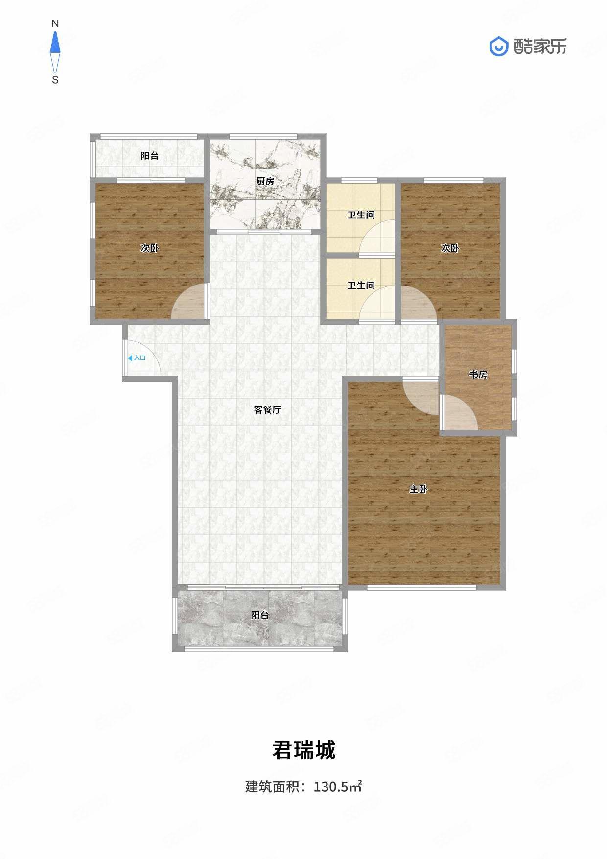 君瑞城精装三室两厅全明户型新证可贷款