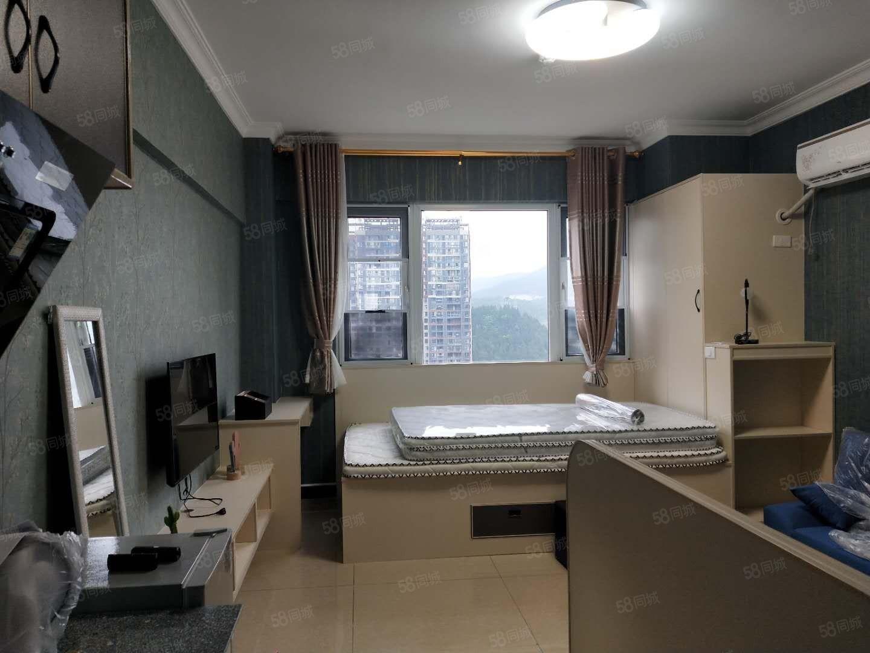 麒龙国际单身公寓出租精装修2张床