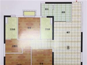 6800一平17楼恒大御景湾129平精装三室两厅两卫