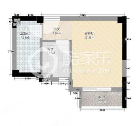 南岸商圈,三盛中央公园,单身公寓,34.5平35万
