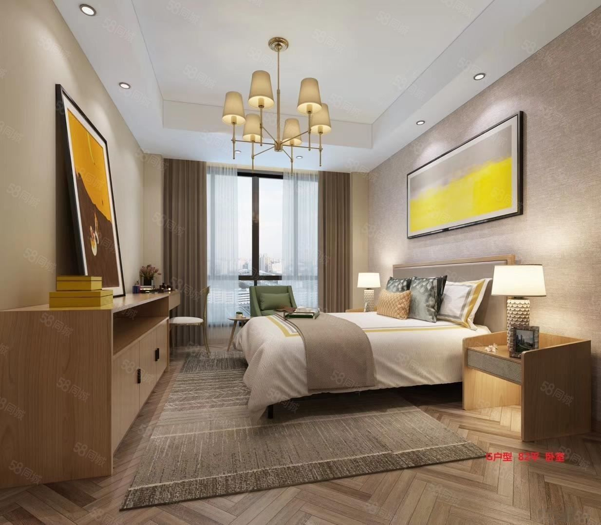 市中心核心地段9000单价4米6挑高精装修酒店公寓带租约