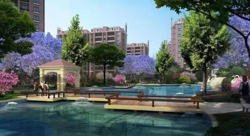 城南马赛庄园正规3室新房接受公积金户型方正对中庭安静适合居家