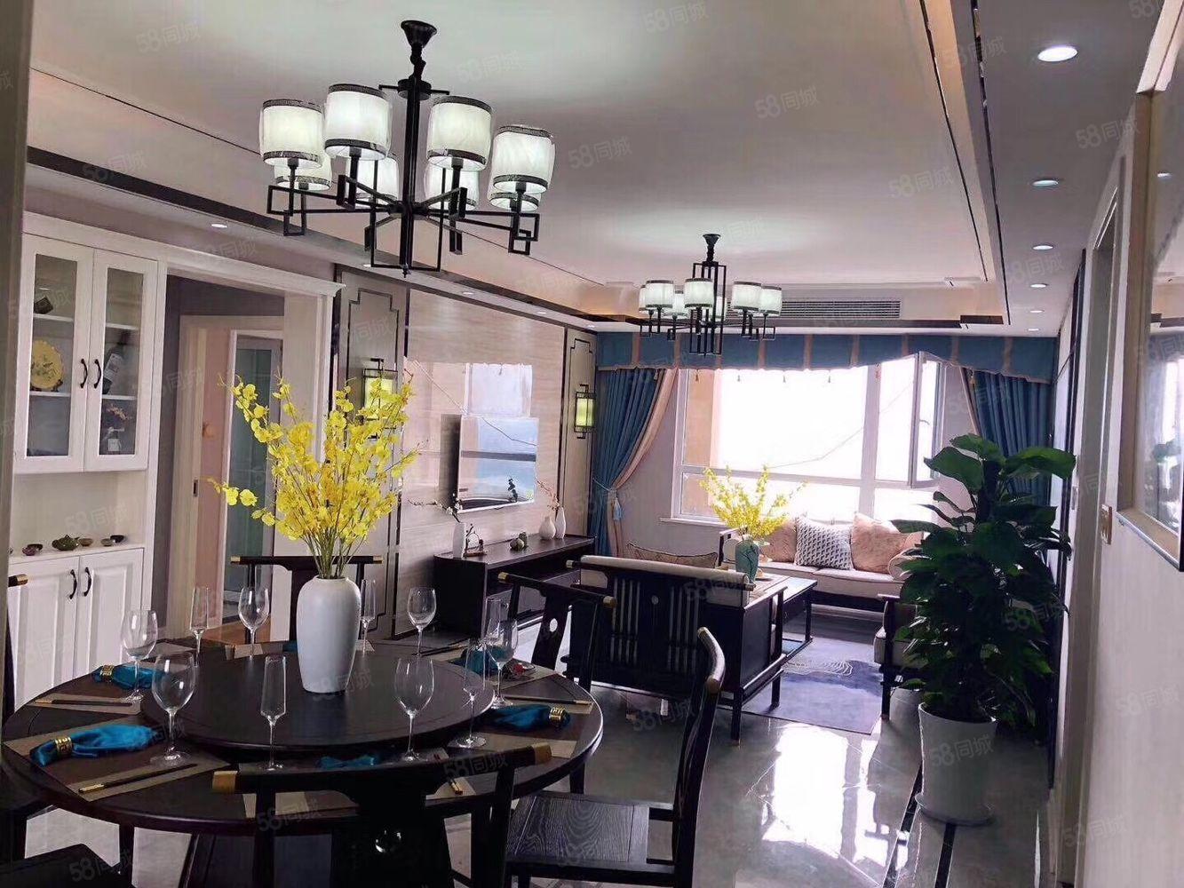 富华国际空中花园新中式使用面积220平五室三厅三卫定制家具