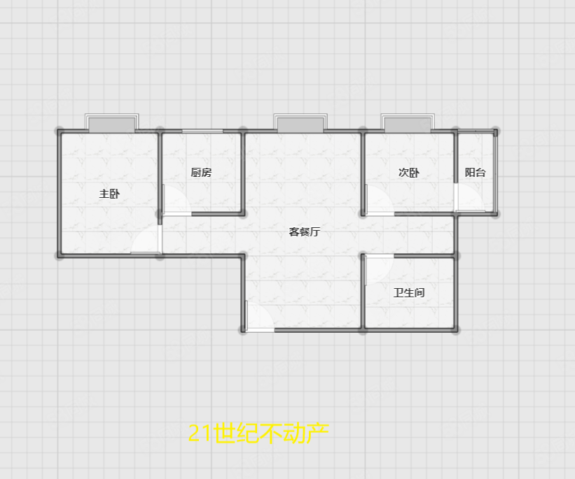 二十一世紀佳源小區大兩室簡裝拎包入住