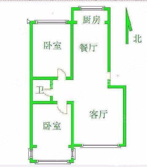 卢龙迎宾花苑,两室两厅,户型好,采光好,公摊小