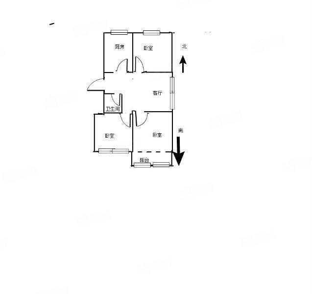 中山路博士庄园东边户现房三室一把清96平方