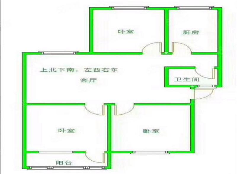 安廈小區,中間樓層,三室兩廳,首付20萬,單價六千出頭每平