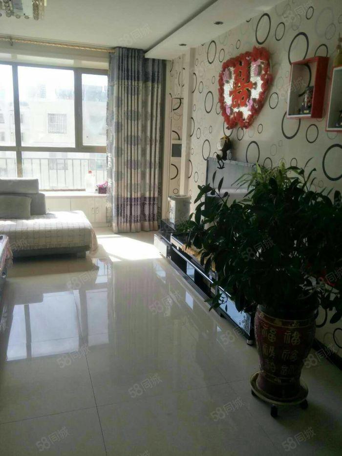 馨馨花园,两室两厅精装地暖直通结构,带20平平台