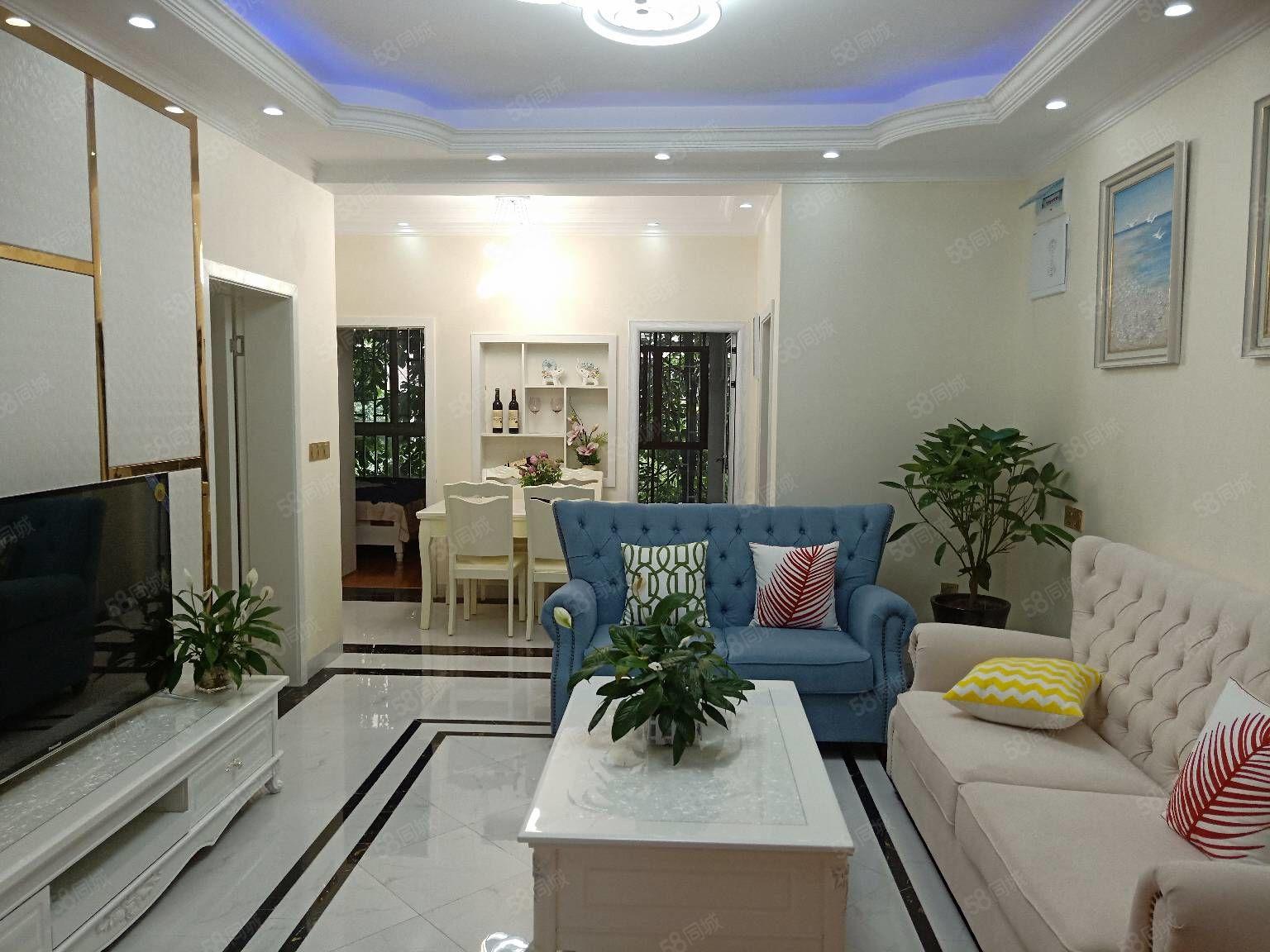 梓小3房前后带花园全新精装三室家具家电全齐