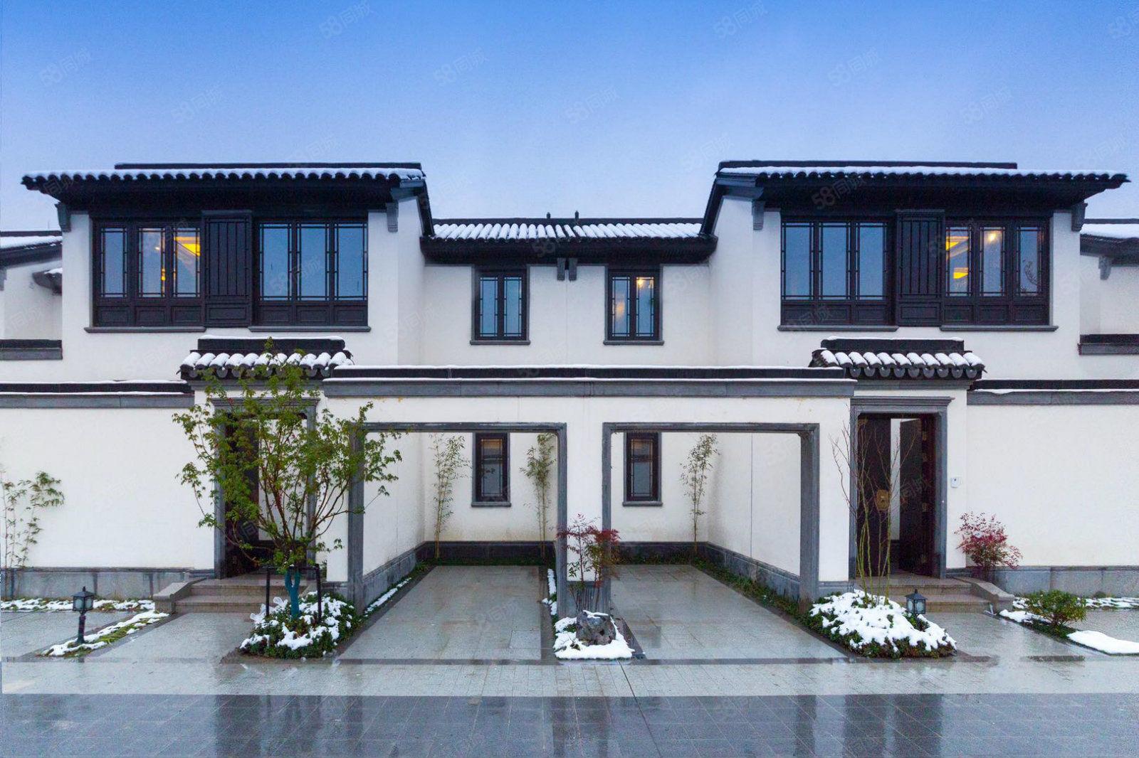 蓝城观云,中式合院别墅庭院100平,业主置换急售送精装带家具