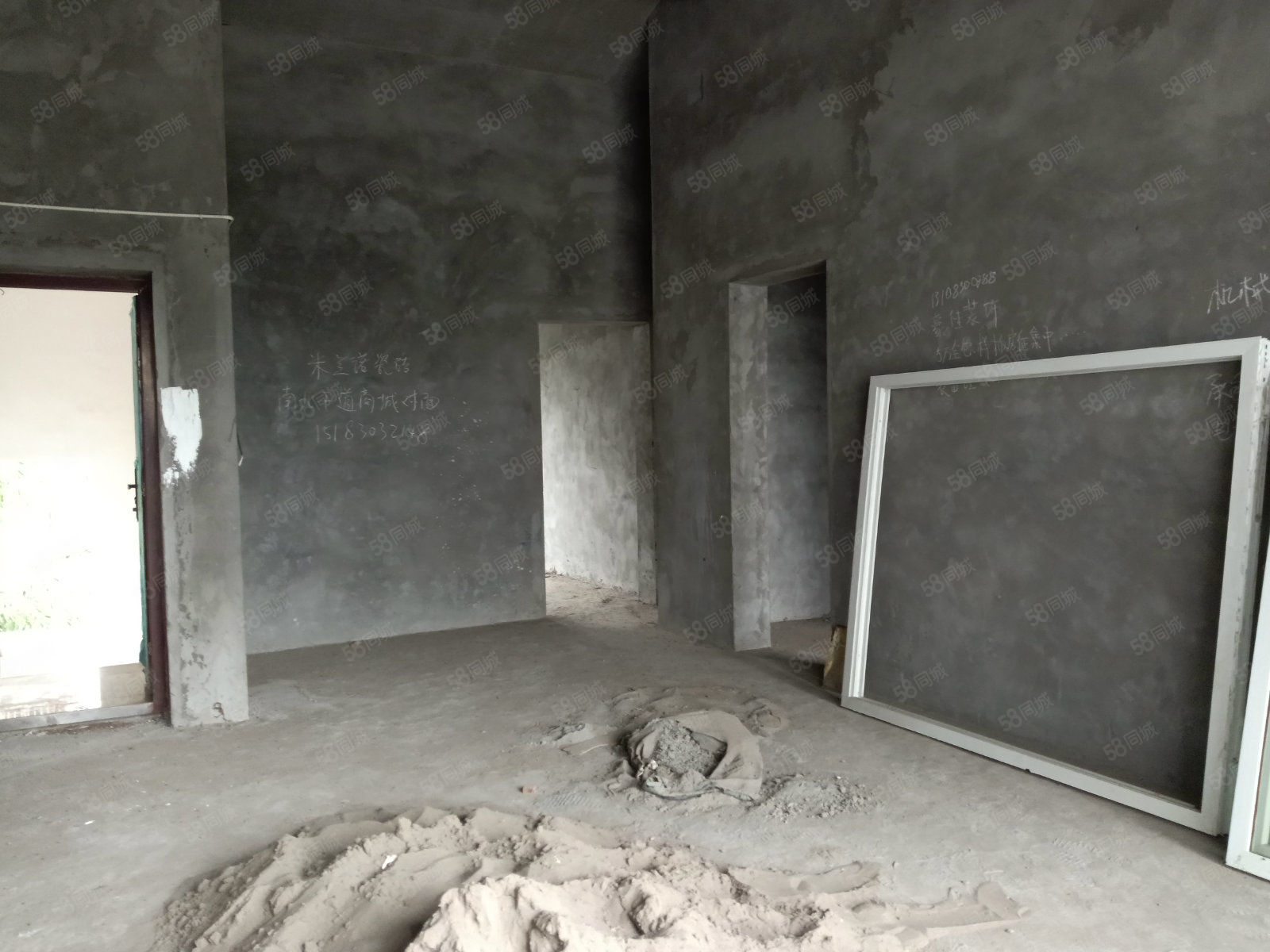 城北九曲河畔原野市场县医院旁边,现浇2室无遮挡,户型周正