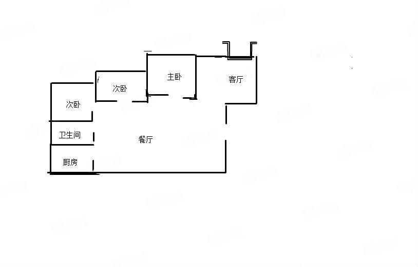 盛世天宫电梯3室2厅2卫103.36平方30.8万急售