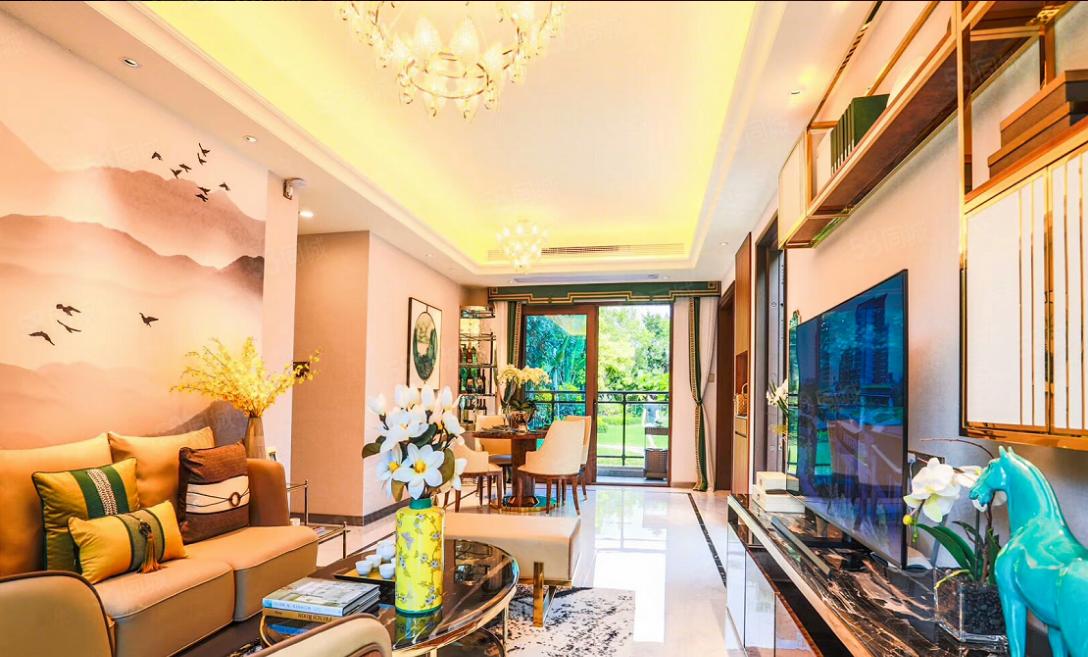 海棠湾生态养生大盘碧桂园盛世纯板楼设计一梯两户。