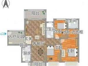代理龙熙山117方,高层3房2厅2卫,送小车位,68.8万